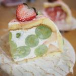 果実園東京店のマスカットとイチゴのズコット