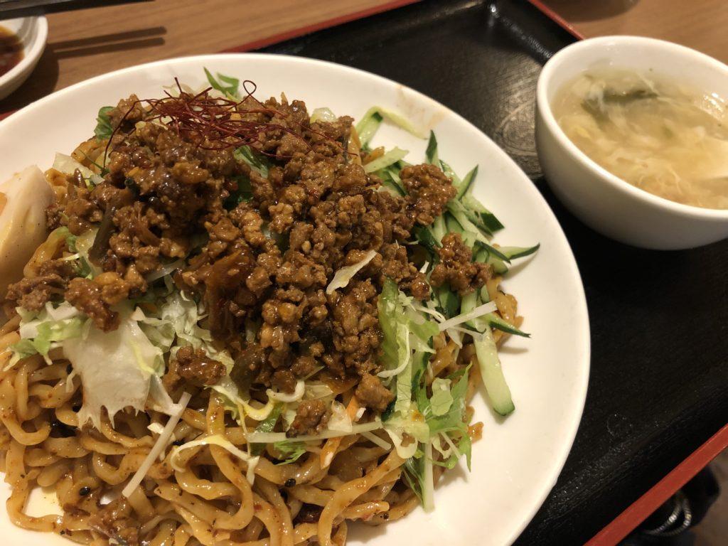 揚子江汁なし担々麵1