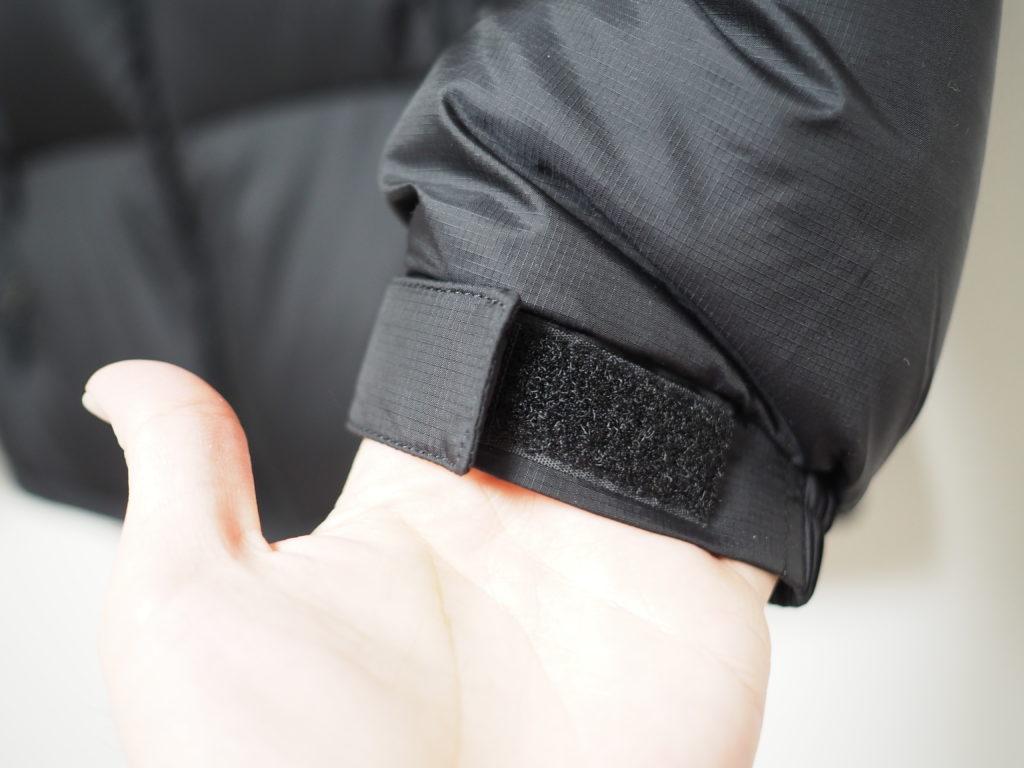 ヌプシジャケットの袖口