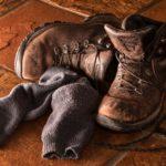 ブーツと靴下
